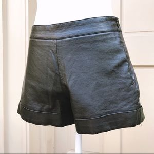 French Connection — Leather Shorts